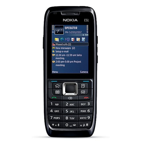 nokia e51 handy ohne vertrag und ohne simlock mit kamera e51 1 d tronik. Black Bedroom Furniture Sets. Home Design Ideas
